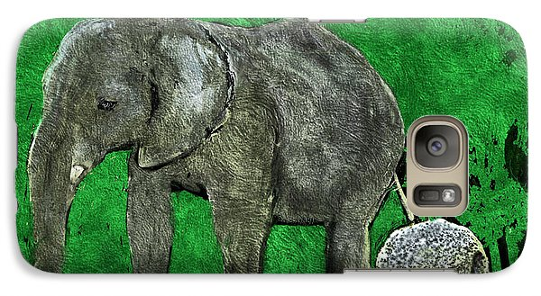 Galaxy Case featuring the digital art Nelly The Elephant by Pennie  McCracken