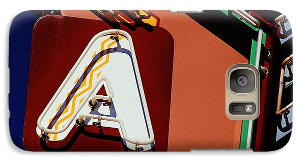 Galaxy Case featuring the photograph Neon A - Aztec Theater by Daniel Woodrum