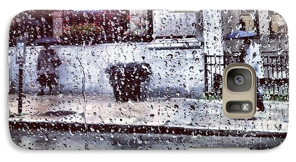 Galaxy Case featuring the photograph Neon And Rain by Toni Martsoukos
