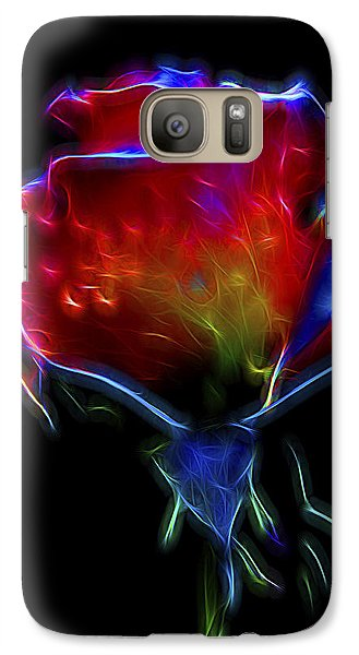Galaxy Case featuring the digital art Neon Rose by William Horden