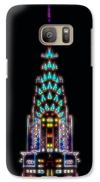 Chrysler Building Galaxy S7 Case - Neon Spires by Az Jackson