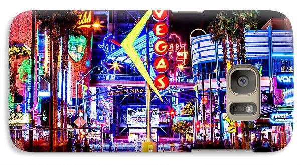 Eiffel Tower Galaxy S7 Case - Neon Vegas by Az Jackson