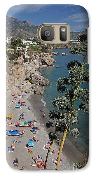 Galaxy Case featuring the photograph Nerja Beach by Rod Jones