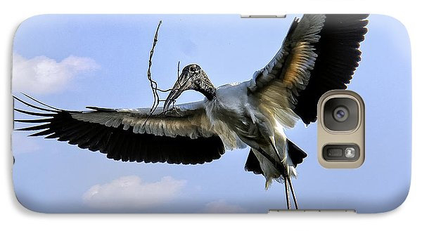 Nest Building Woodstork Galaxy S7 Case