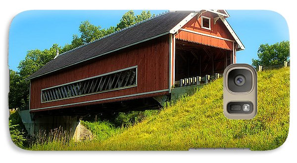Galaxy Case featuring the photograph Netcher Road Bridge by Skip Tribby