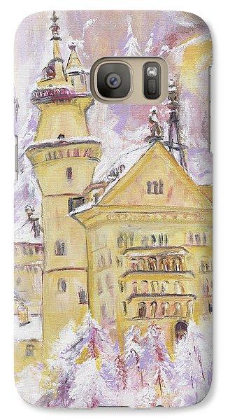 Galaxy Case featuring the painting Neuschwanstein Castle  by Helena Bebirian