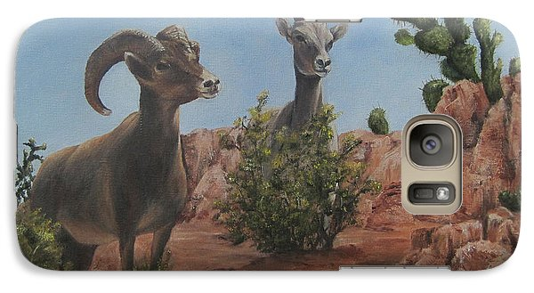 Galaxy Case featuring the painting Nevada Big Horns by Roseann Gilmore