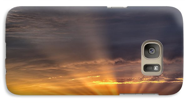 Galaxy Case featuring the photograph Nevada Sunset by Janis Knight