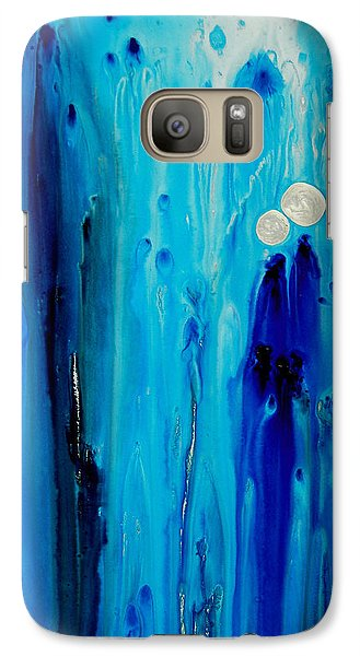 Galaxy Case featuring the painting Never Alone By Sharon Cummings by Sharon Cummings