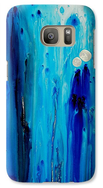 Abstract Galaxy S7 Case - Never Alone By Sharon Cummings by Sharon Cummings