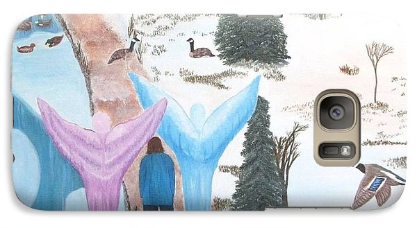 Galaxy Case featuring the painting Never Alone by Cheryl Bailey