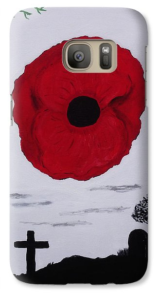 Galaxy Case featuring the painting Never Forgotten by Martin Blakeley