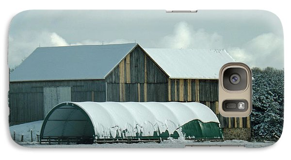 Galaxy Case featuring the photograph New And Old Barn Planks by Brenda Brown