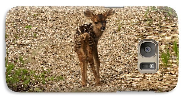 Galaxy Case featuring the photograph New Born Mule Deer by Daniel Hebard