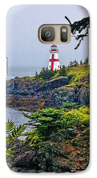 Galaxy Case featuring the photograph New Brunswick Lighthouse by Lewis Mann