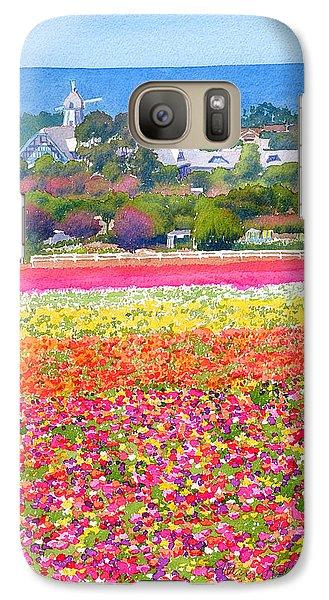 New Carlsbad Flower Fields Galaxy Case by Mary Helmreich
