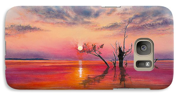 Galaxy Case featuring the painting New Dawn by Jeanette French