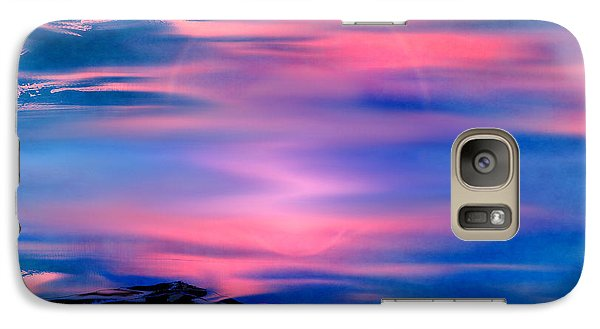 Galaxy Case featuring the painting New Dawn by Yul Olaivar
