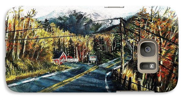 Galaxy Case featuring the painting New England Drive by Shana Rowe Jackson