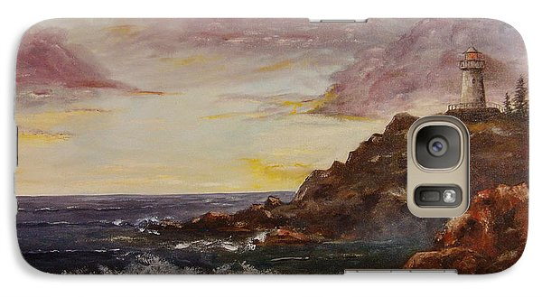 Galaxy Case featuring the painting New England Storm by Lee Piper