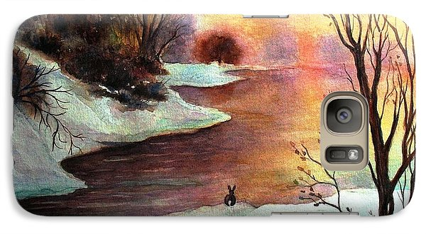 Galaxy Case featuring the painting New Every Morning  by Hazel Holland