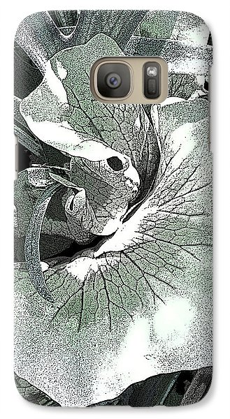 Galaxy Case featuring the photograph New Growth On The Staghorn by Angela Treat Lyon