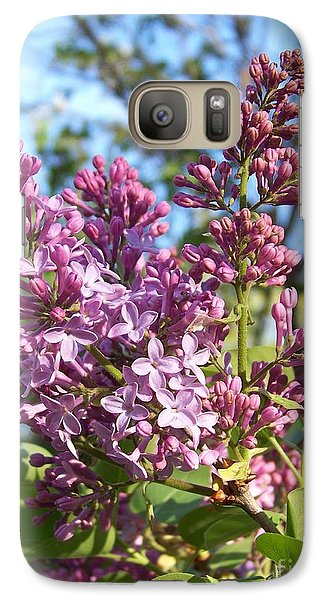 Galaxy Case featuring the photograph Purple Lilac by Eunice Miller