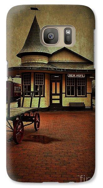 Galaxy Case featuring the photograph New Hope Ivyland Train Station by Debra Fedchin