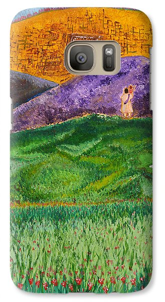 Galaxy Case featuring the painting New Jerusalem by Cassie Sears