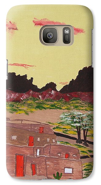 Galaxy Case featuring the painting New Mexico Adobe Home by Brady Harness