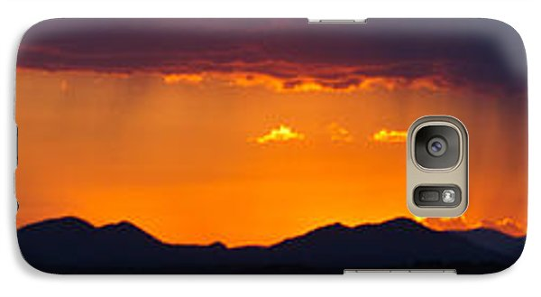 Galaxy Case featuring the photograph New Mexico Sunset by Atom Crawford