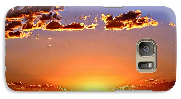 Galaxy Case featuring the photograph New Mexico Sunset Glow by Barbara Chichester