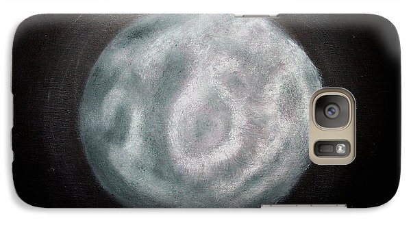 Galaxy Case featuring the painting New Moon by Joel Loftus