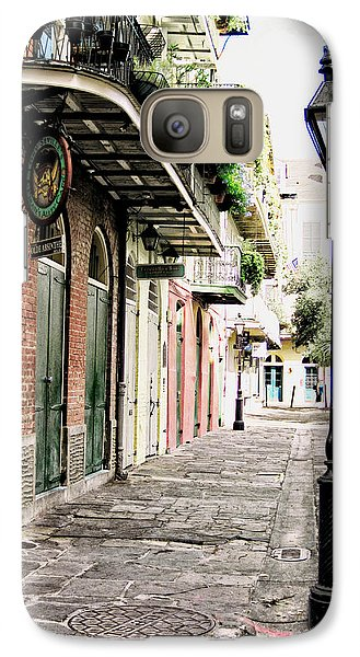 Galaxy Case featuring the photograph New Orleans Cobblestone by Heather Green
