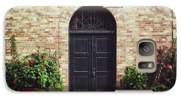 Galaxy Case featuring the photograph New Orleans Courtyard Door by Heather Green