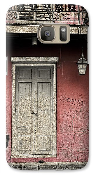 Galaxy Case featuring the photograph New Orleans French Quarter Balcony And Doorway by Ray Devlin