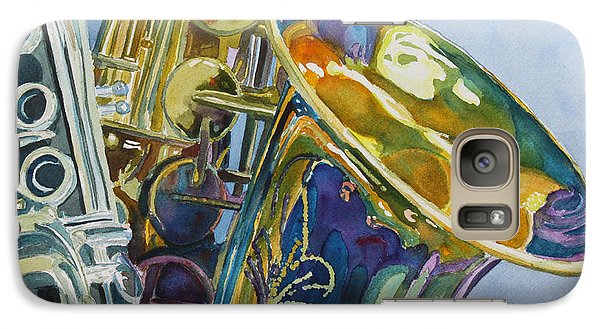 Saxophone Galaxy S7 Case - New Orleans Reeds by Jenny Armitage