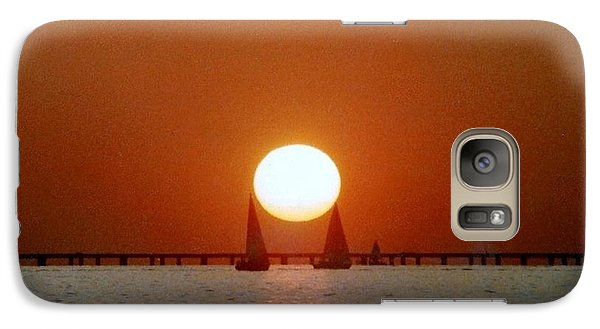 Galaxy Case featuring the photograph New Orleans Sailing Sun On Lake Pontchartrain by Michael Hoard