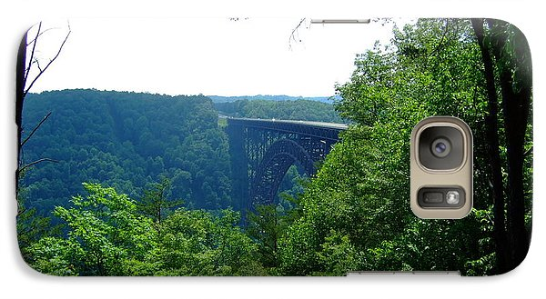 Galaxy Case featuring the photograph New River Gorge by Deborah DeLaBarre