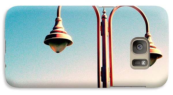 Galaxy Case featuring the digital art Beach Lamp Post by Valerie Reeves