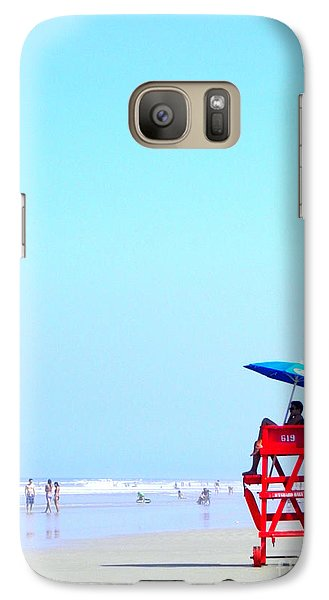 Galaxy Case featuring the digital art New Smyrna Lifeguard by Valerie Reeves