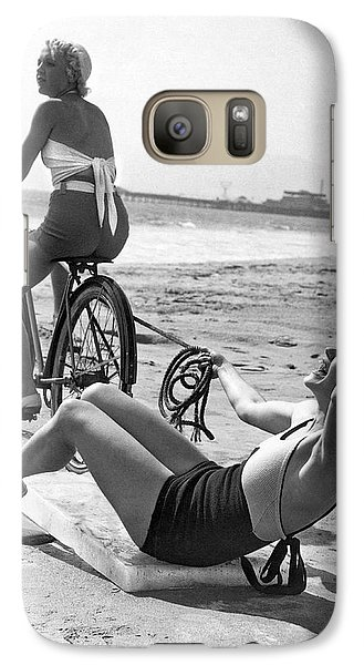 Venice Beach Galaxy S7 Case - New Sport Of Ice Planing by Underwood Archives