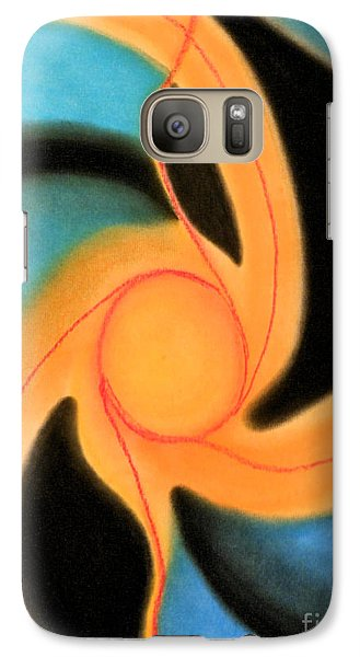 Galaxy Case featuring the pastel New Sun by Christine Perry