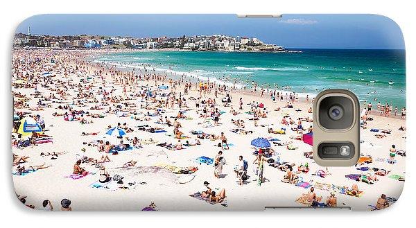 New Year's Day At Bondi Beach Sydney Australi Galaxy S7 Case by Matteo Colombo