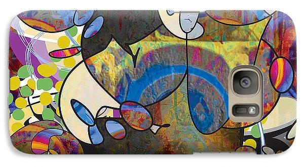 Galaxy Case featuring the digital art New Year's Eve Celebration by Gabrielle Schertz