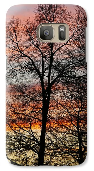 Galaxy Case featuring the photograph New Years Sunset by Tannis  Baldwin