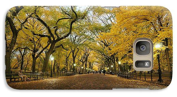 New York City - Autumn - Central Park - Literary Walk Galaxy Case by Vivienne Gucwa