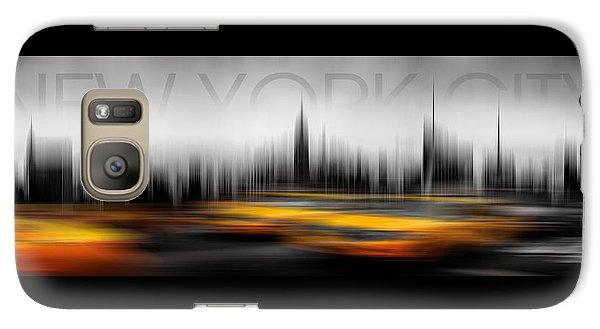 New York City Cabs Abstract Galaxy Case by Az Jackson