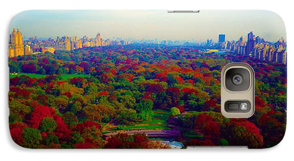 Galaxy Case featuring the photograph New York City Central Park South by Tom Jelen