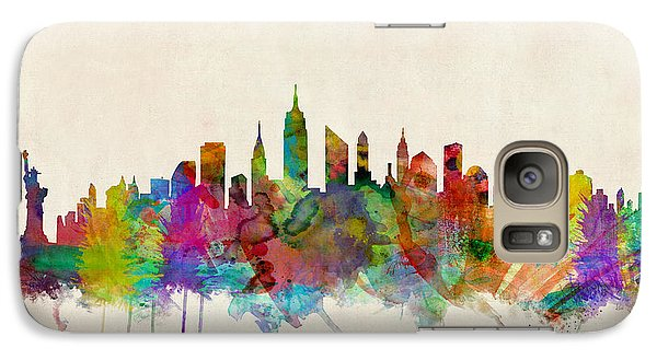 New York City Skyline Galaxy S7 Case by Michael Tompsett